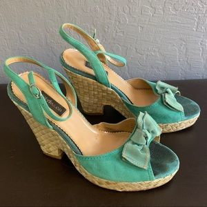 Teal Wedges by Style & Co